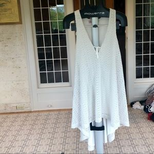 White free people high low dress